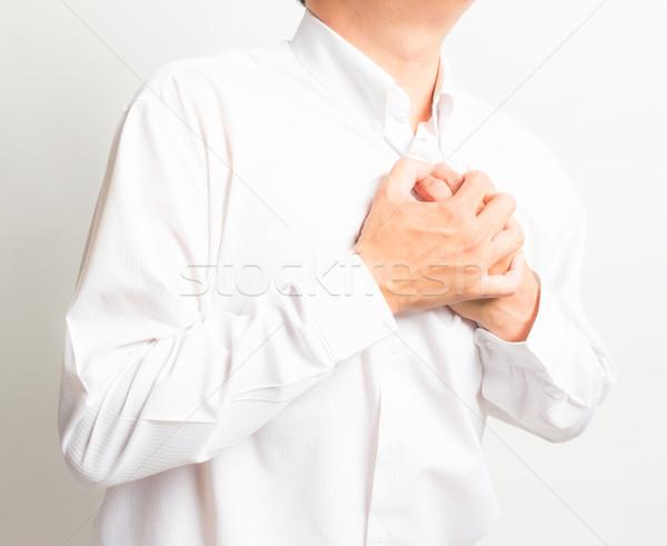 Ataque cardíaco coração saúde empresário homens dor Foto stock © tungphoto