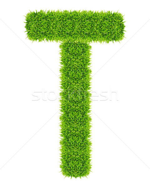 green grass letter T Isolated Stock photo © tungphoto