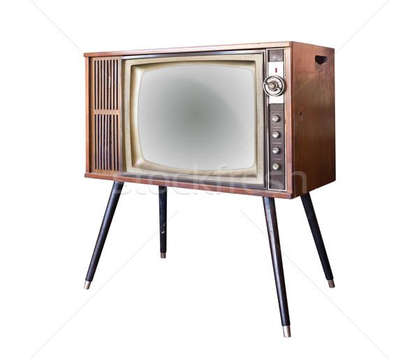 Vintage телевидение изолированный технологий фильма Сток-фото © tungphoto