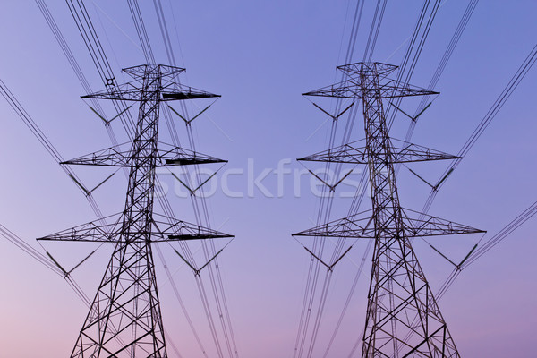 electrical high voltage power pylon Stock photo © tungphoto