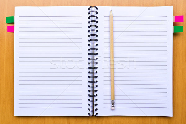 ノートブック 鉛筆 フローリング オフィス 図書 学校 ストックフォト © tungphoto