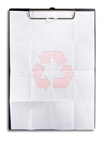 recycle paper on clipboard isolated Stock photo © tungphoto