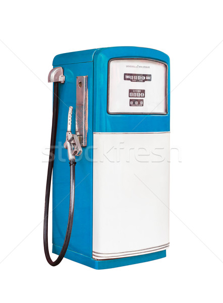 Klasszikus gázolaj benzinpumpa izolált vágási körvonal energia Stock fotó © tungphoto