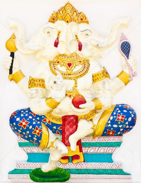 Indian or Hindu God Named Dwimukha Ganapati Stock photo © tungphoto