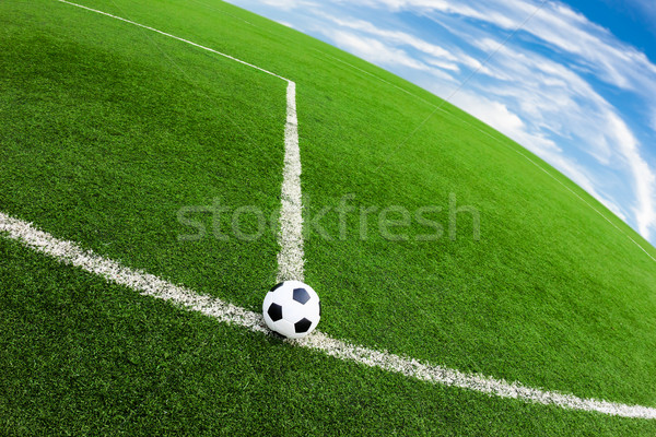 Futebol grama verde campo futebol esportes futebol Foto stock © tungphoto