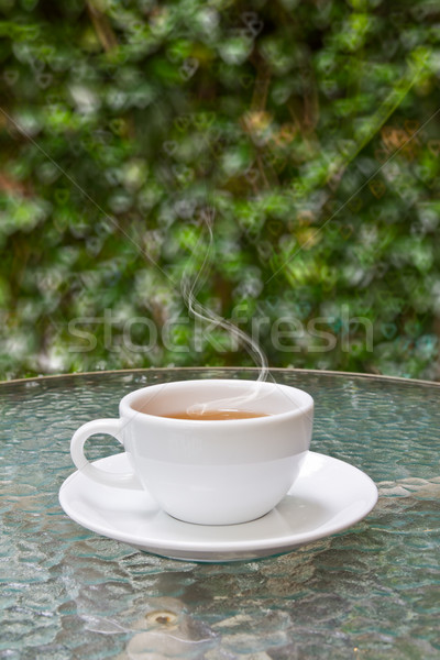 cup of tea on glass table Stock photo © tungphoto
