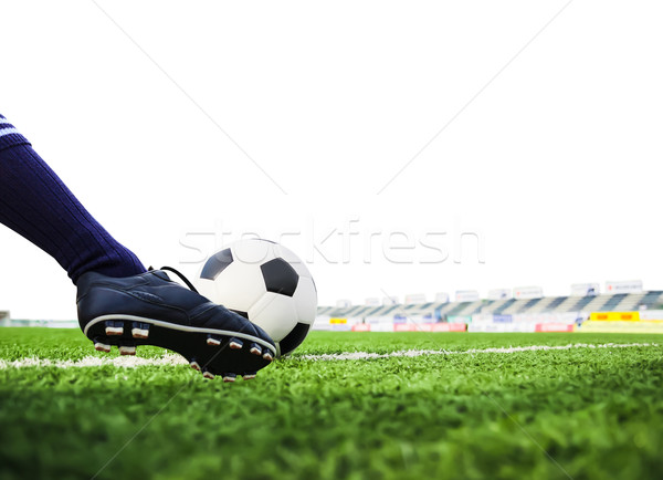 foot shooting football isolated Stock photo © tungphoto