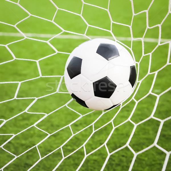 Futball gól net futball sport nyár Stock fotó © tungphoto