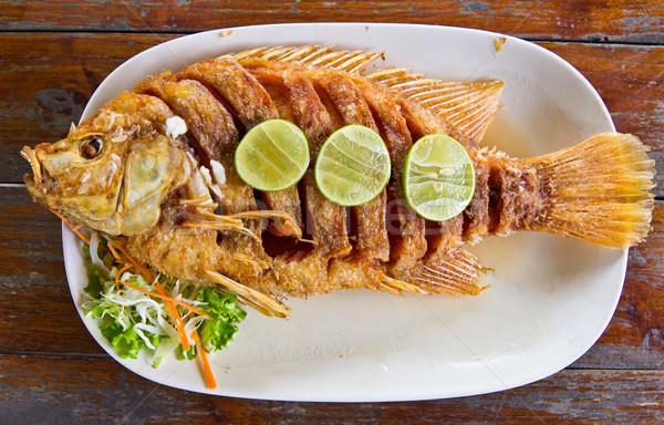 Hal finom thai étel étel fény tányér Stock fotó © tungphoto
