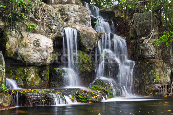 Vízesés Thaiföld víz erdő tájkép kő Stock fotó © tungphoto