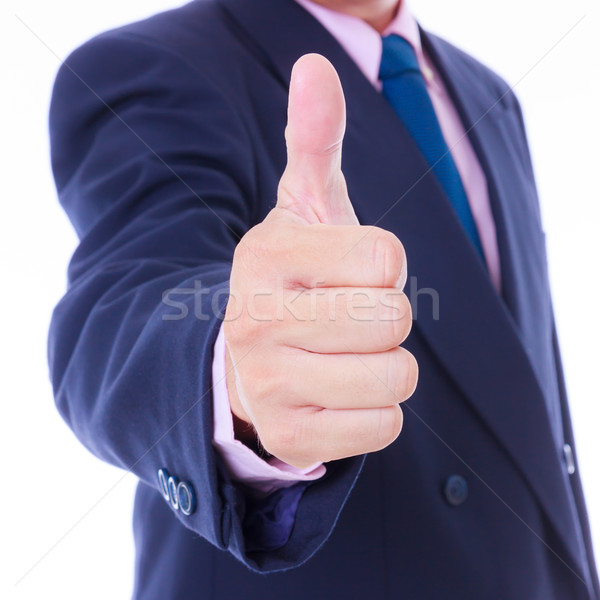 ビジネスマン 親指 アップ 背景 ビジネスマン にログイン ストックフォト © tungphoto