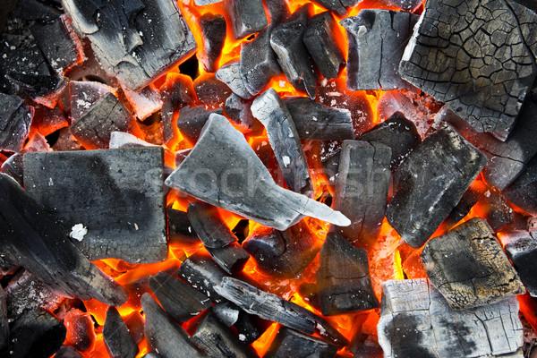 burning coals Stock photo © tungphoto