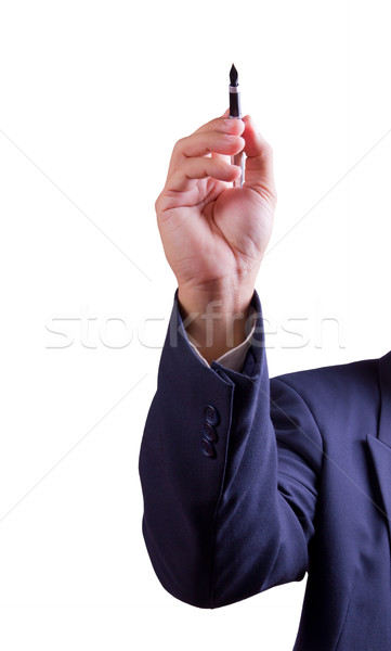 hand holding pen isolated Stock photo © tungphoto