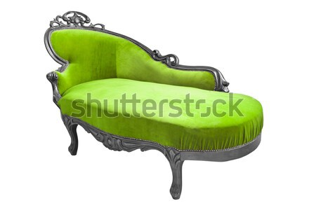 luxury green sofa isolated with clipping path Stock photo © tungphoto