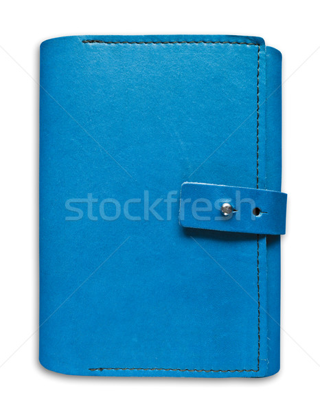 blue leather case notebook isolated  Stock photo © tungphoto