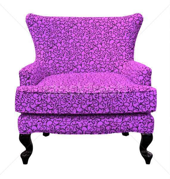 Purple диван изолированный белый моде зеленый Сток-фото © tungphoto