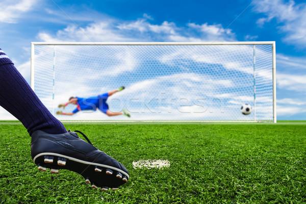 足 撮影 サッカーボール 目標 ペナルティ サッカー ストックフォト © tungphoto