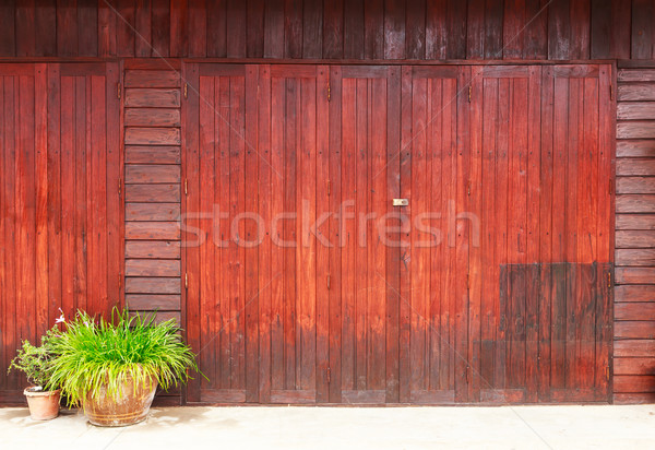 Klasszikus fából készült ajtó épület terv otthon Stock fotó © tungphoto