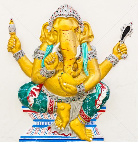 Indian or Hindu God Named Triaksara Ganapati Stock photo © tungphoto