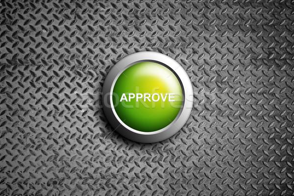 approve button on diamond steel texture Stock photo © tungphoto