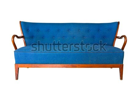 purple sofa isolated with clipping path Stock photo © tungphoto