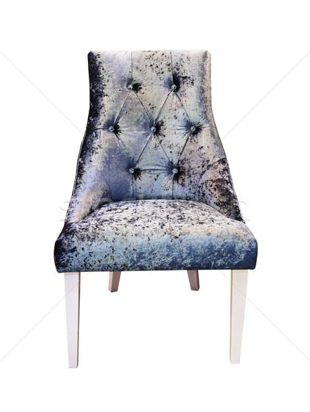 Srebrny sofa odizolowany moda projektu Zdjęcia stock © tungphoto