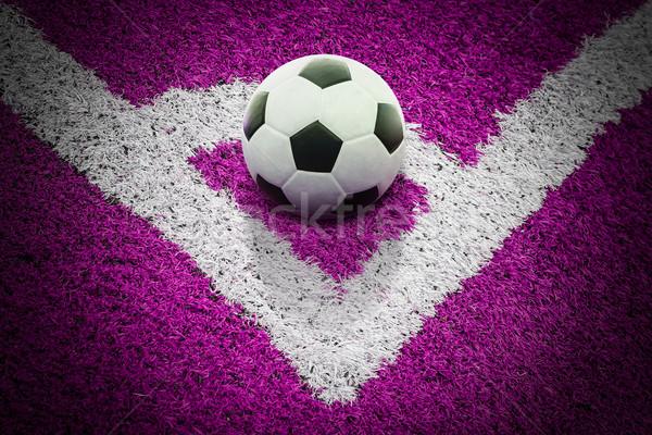 Futballpálya textúra férfi iskola sport természet Stock fotó © tungphoto