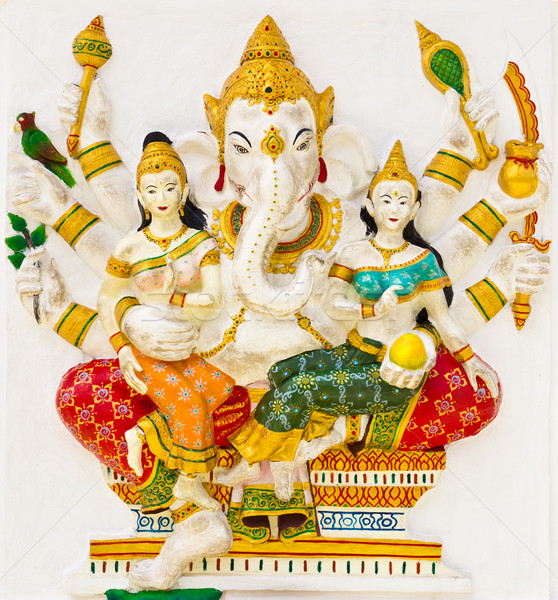 Indian god tempel Thailand vrouw ogen Stockfoto © tungphoto
