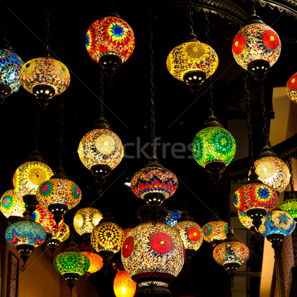 Mosaic Turkish style lanterns Stock photo © tungphoto