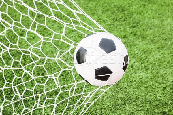 Stok fotoğraf: Futbol · gol · net · futbol · spor · yaz