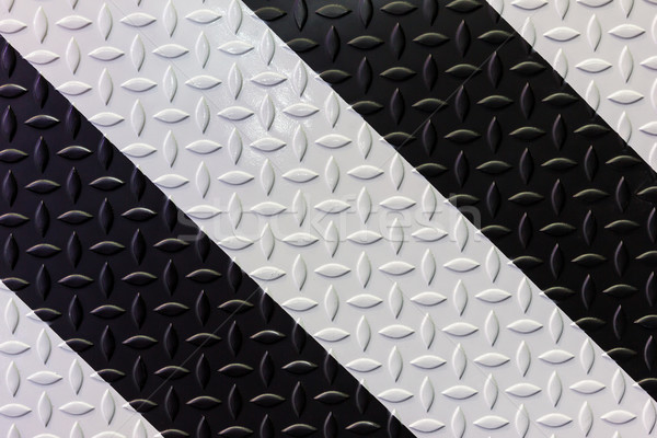 Zwart wit diamant staal plaat achtergrond Stockfoto © tungphoto