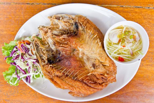 魚 マンゴー ソース タイ料理 食品 ストックフォト © tungphoto