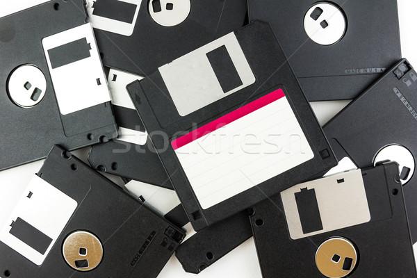 Nero isolato bianco tecnologia sicurezza informazioni Foto d'archivio © tungphoto