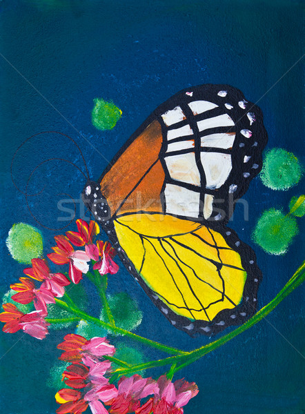 drawing of butterfly Stock photo © tungphoto