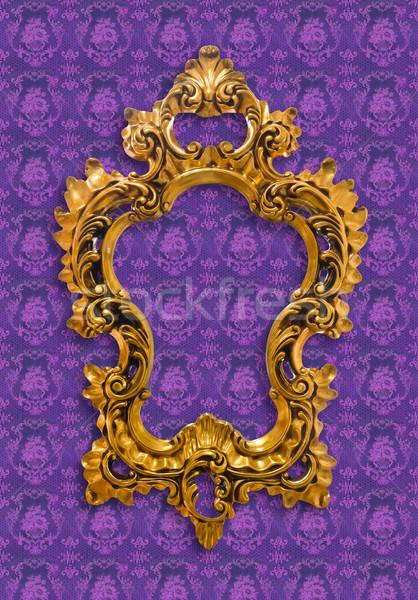 Keret arany izolált vágási körvonal háttér fém Stock fotó © tungphoto