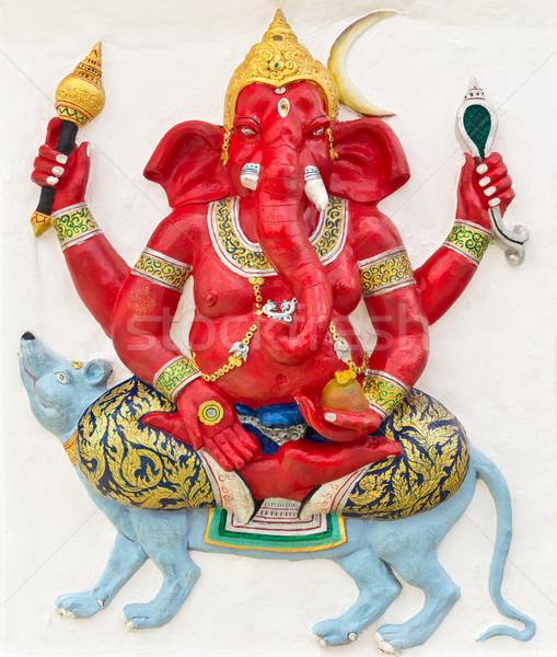 индийской Бога храма Таиланд глазах синий Сток-фото © tungphoto