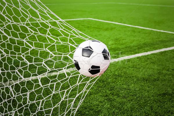 футбола цель чистой Футбол спорт лет Сток-фото © tungphoto