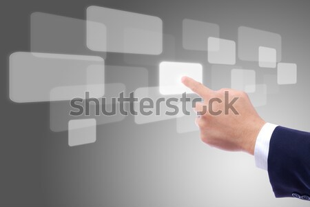 hand pushing button Stock photo © tungphoto