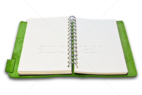 green leather case notebook isolated  Stock photo © tungphoto