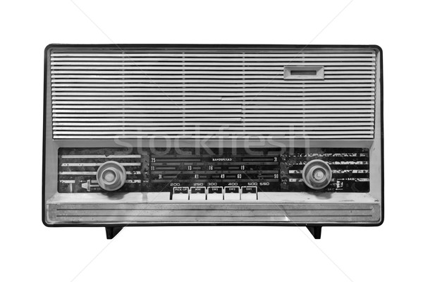 vintage radio isolated with clipping path Stock photo © tungphoto