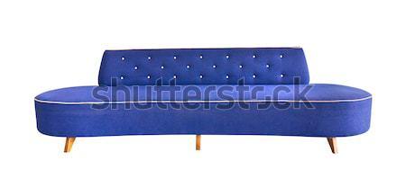 Groene sofa geïsoleerd mode Blauw Stockfoto © tungphoto