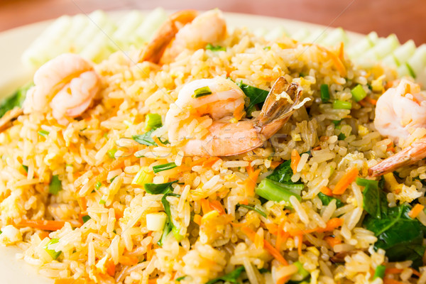 エビ コメ タイ料理 背景 油 ディナー ストックフォト © tungphoto