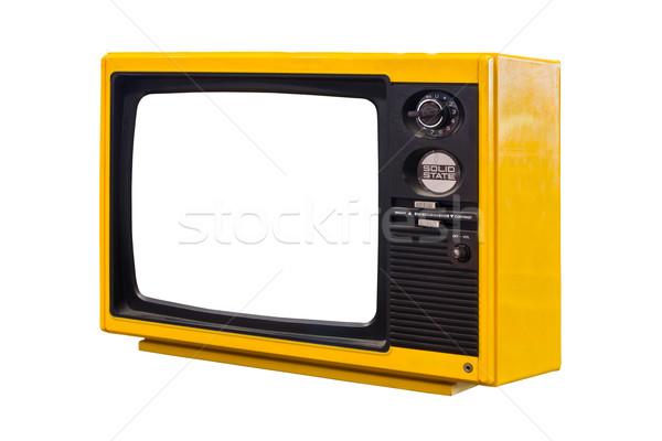 古い テレビ 孤立した 技術 映画 画面 ストックフォト © tungphoto