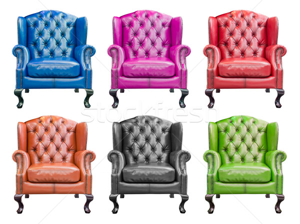 collection of luxury armchair isolated with clipping path Stock photo © tungphoto