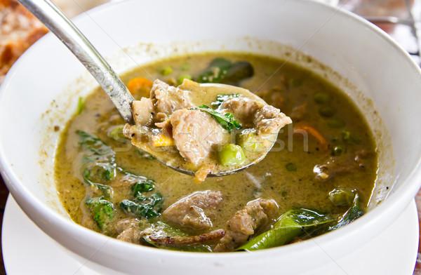 牛肉 緑 カレー タイ料理 食品 ストックフォト © tungphoto