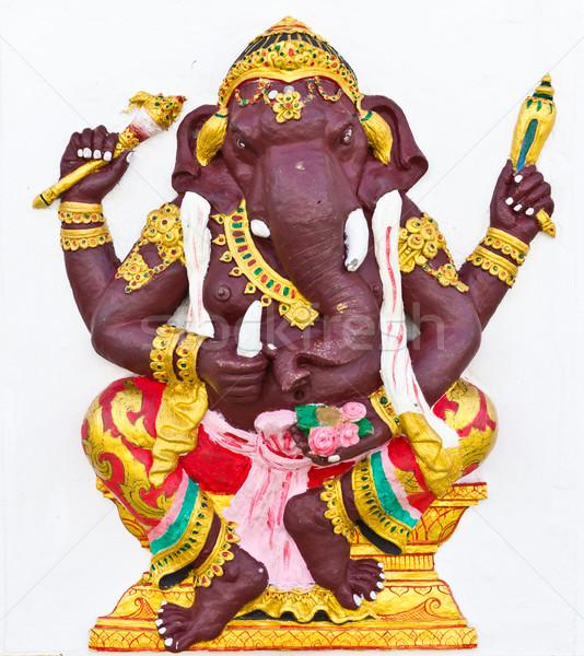 Indian god tempel Thailand ogen olifant Stockfoto © tungphoto