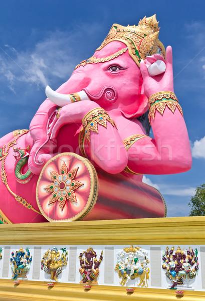 Rózsaszín legnagyobb szobor Thaiföld legelső szemek Stock fotó © tungphoto