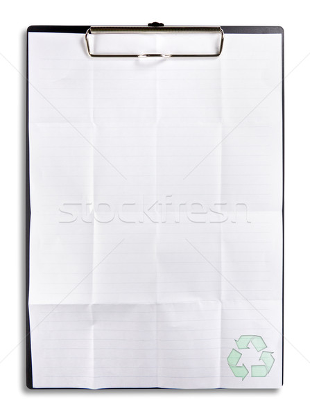 recycle paper on clip board isolated Stock photo © tungphoto