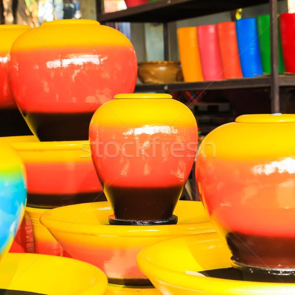 Renkli doku el dizayn sanat fincan Stok fotoğraf © tungphoto