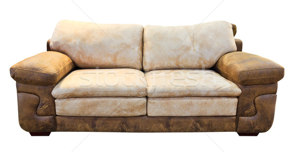 brown sofa isolated with clipping path Stock photo © tungphoto